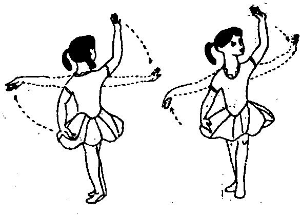 芭蕾舞蹈姿势手绘